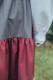 Falda tricolor-granate