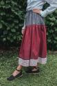 Falda tricolor - granate